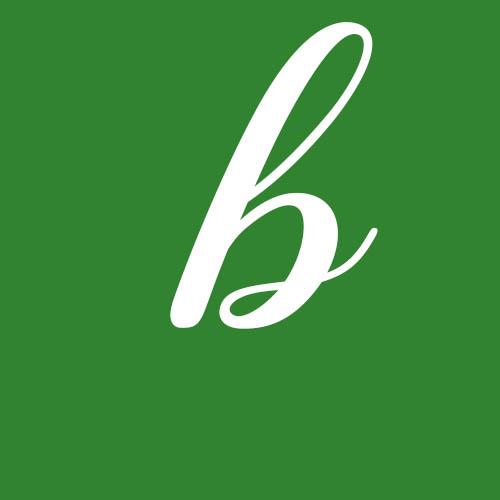 dibujo letra b cursiva
