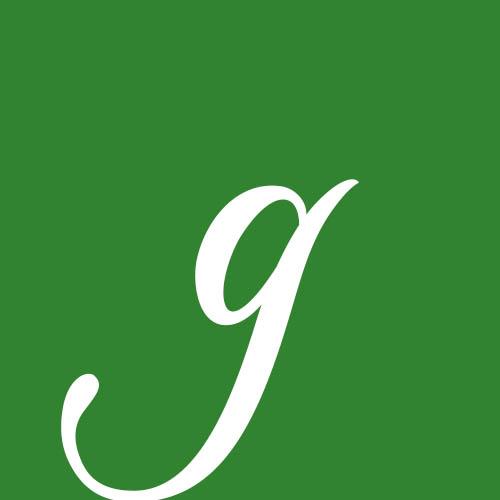 dibujo letra g cursiva