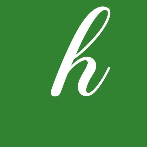 dibujo letra h cursiva