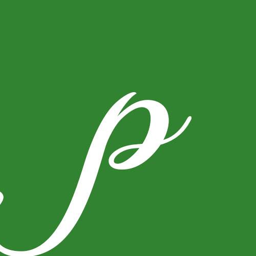 dibujo letra p cursiva