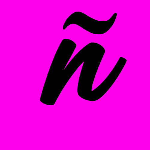 ejemplo letra ñ cursiva minuscula
