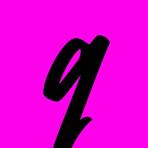 ejemplo letra q cursiva minuscula