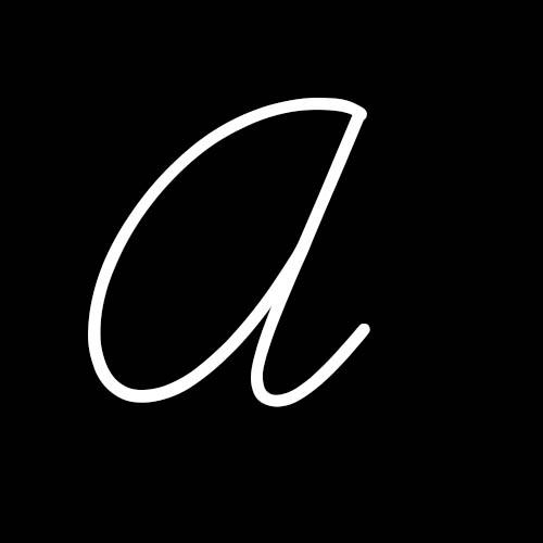 letra a cursiva