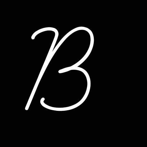 letra b cursiva