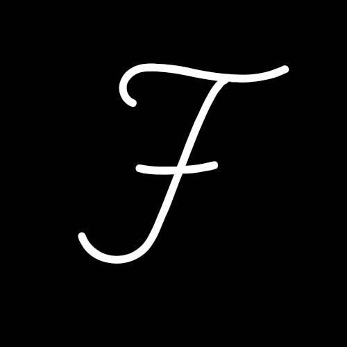 letra f cursiva