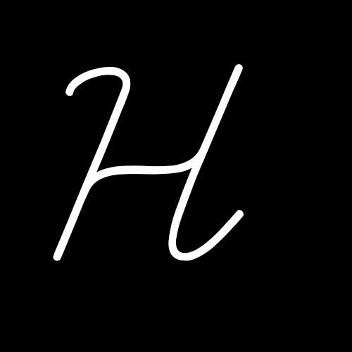 letra h cursiva