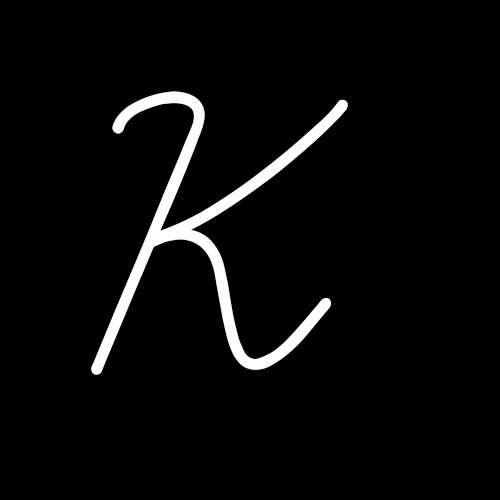 letra k cursiva