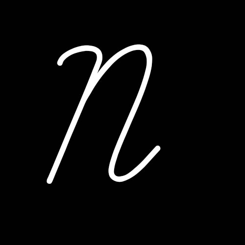 letra n cursiva