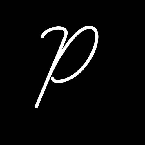 letra p cursiva
