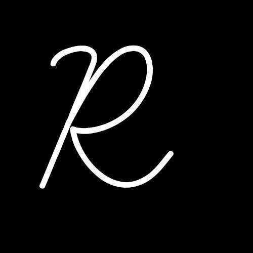 letra r cursiva