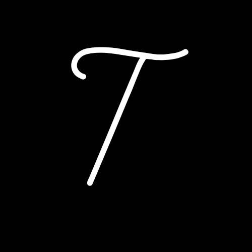 letra t cursiva