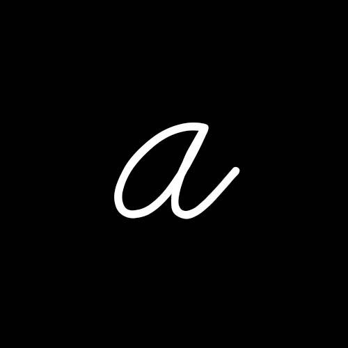 letra a cursiva minuscula
