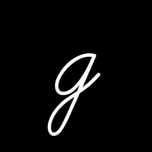 letra g cursiva minuscula