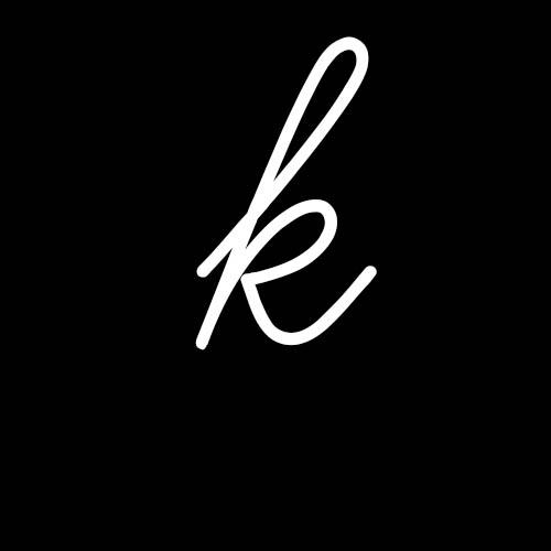 letra k cursiva minuscula