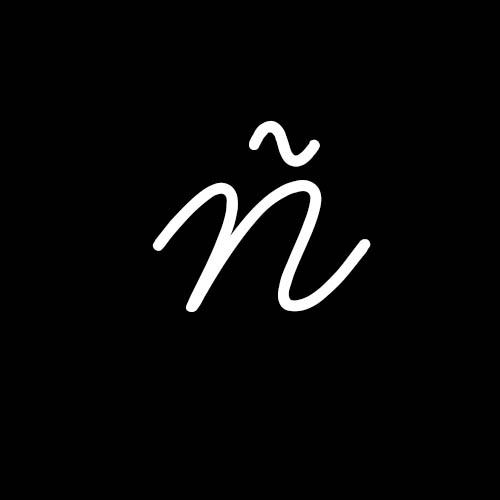letra ñ cursiva minuscula
