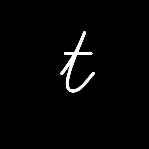 letra t cursiva minuscula