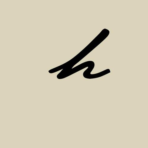 letra h cursiva manuscrita