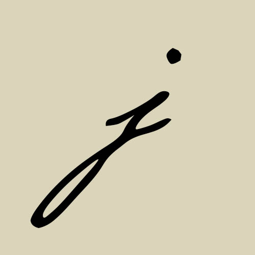 letra j cursiva manuscrita