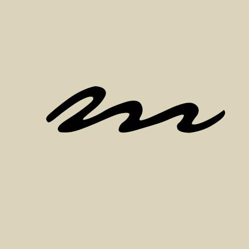 letra m cursiva manuscrita