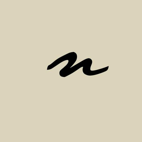 letra n cursiva manuscrita
