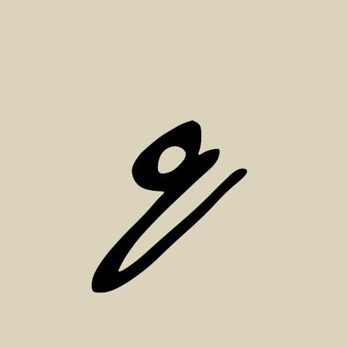 letra q cursiva manuscrita