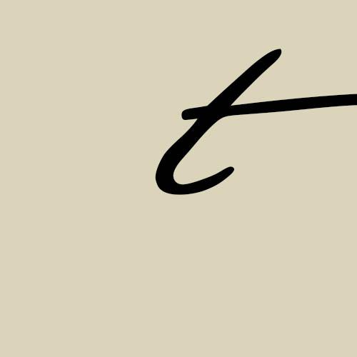 letra t cursiva manuscrita